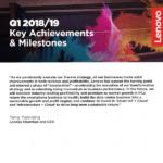 Q1 2018/19 Key Achievements & Milestones