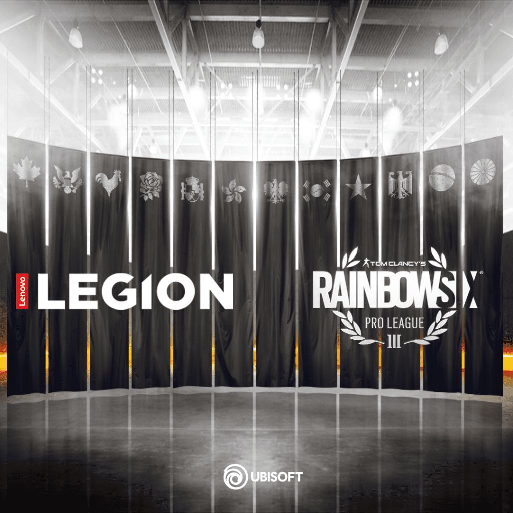 Lenovo Legion™ Teams Up with Ubisoft® as the Official PC and Monitor Sponsor of Tom Clancy's Rainbow Six® Siege Pro League and Majors