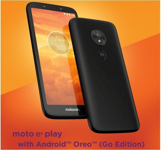 moto e5play: Performance and Protection with Android Oreo (Go edition)