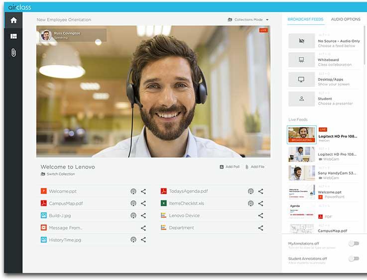 Lenovo AirClass Industry Firsts Transform Virtual Training