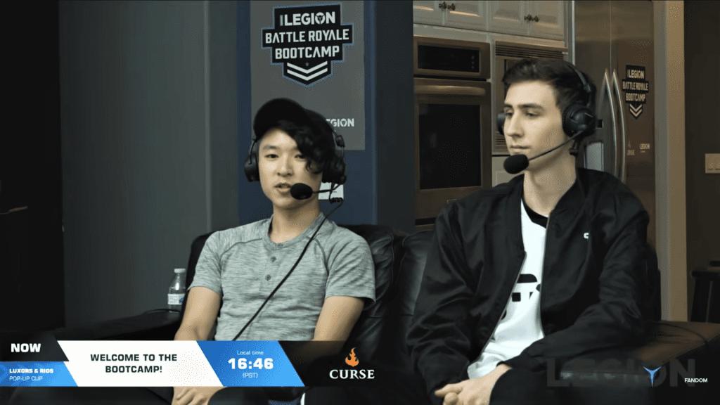 Kayuun and Bizzle coaching Fortnite