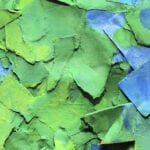 Green and blue paper brand