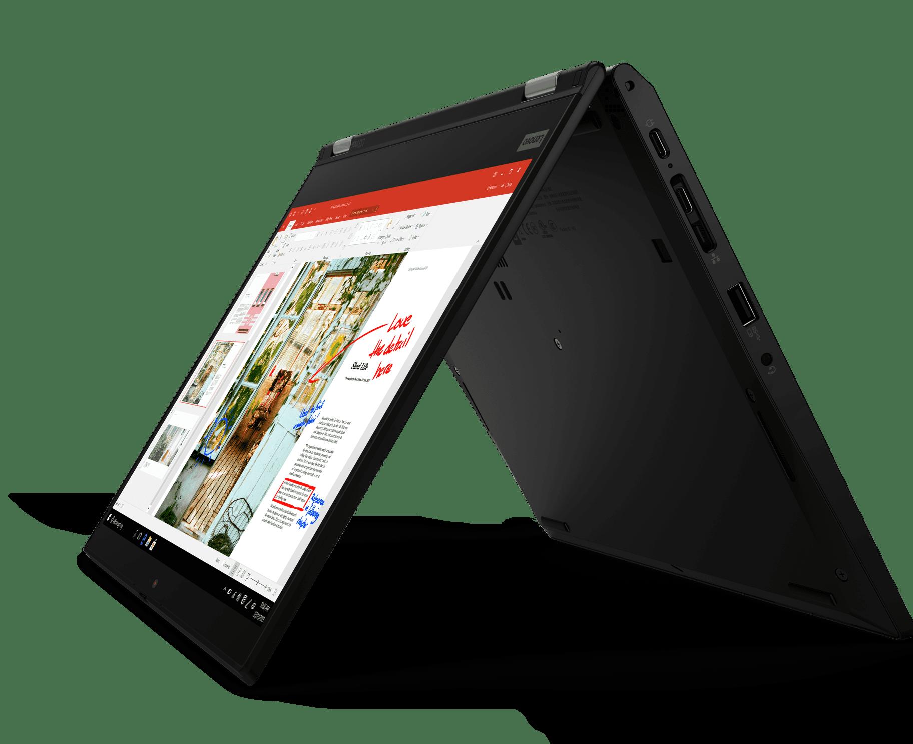 hinkPad-L13-Yoga-Tent-Mode