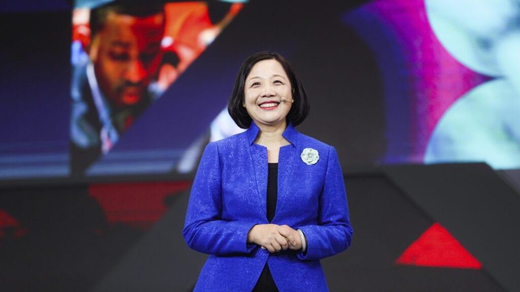 Lenovo CMO Gina Qiao in 2019