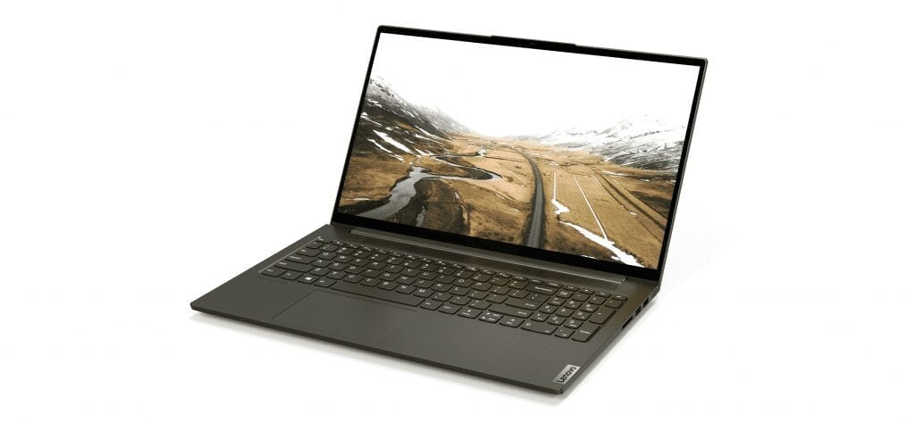 The all-metal Yoga™ Creator 7 is available in the signature Lenovo Creator Series hue of Dark Moss. [2]