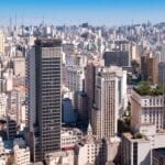 Wide shot of Sao Paulo cityscape