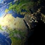 EMEA on a globe