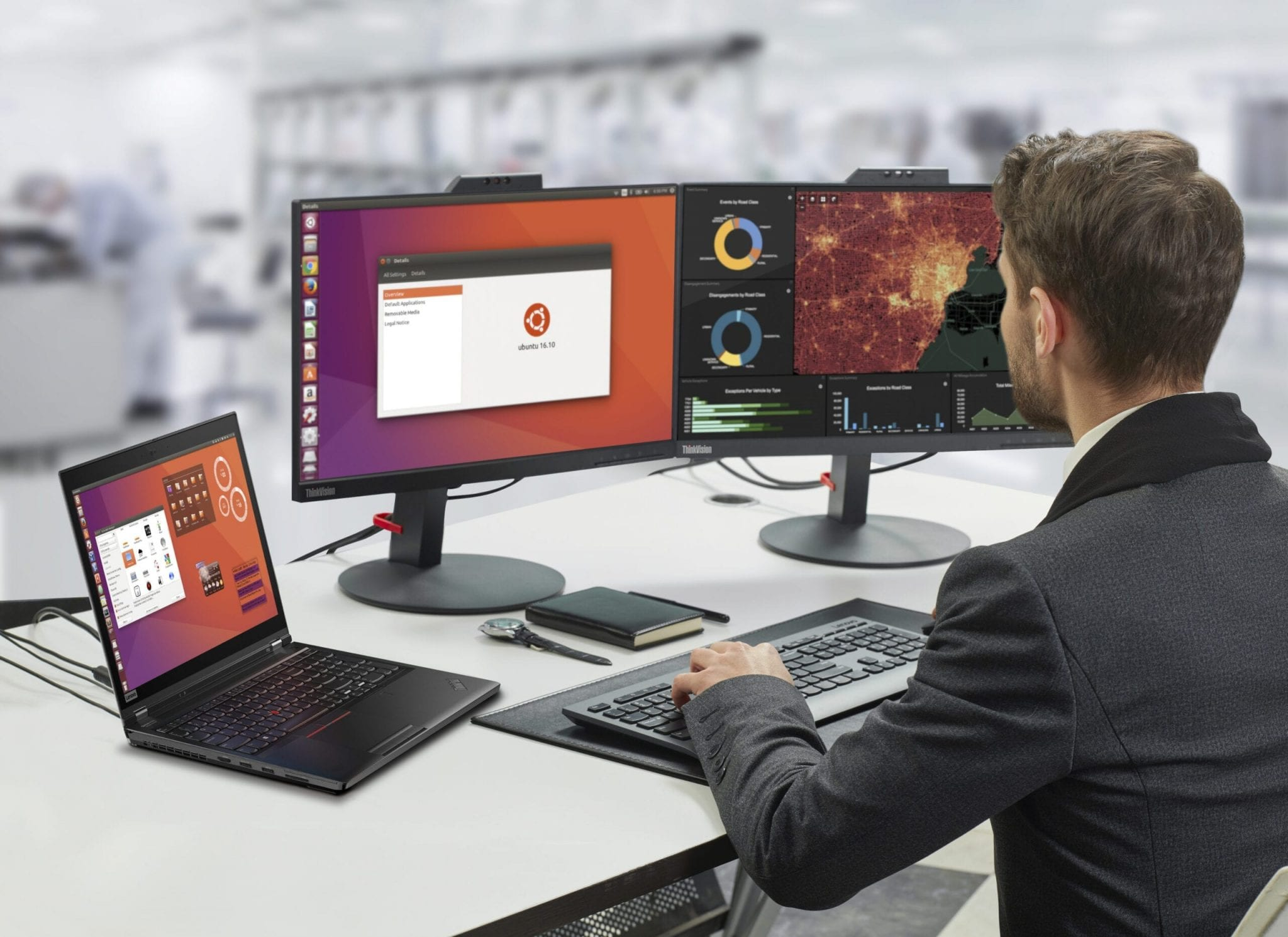 ThinkPad P52 with multiple monitors