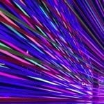 Lenovo Brand Image - stylized streaks of blue, purple, green