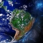 Image of Central and South America seen from space.