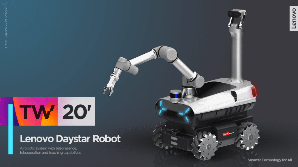 Lenovo Daystar Robot as showcased at Tech World 2020
