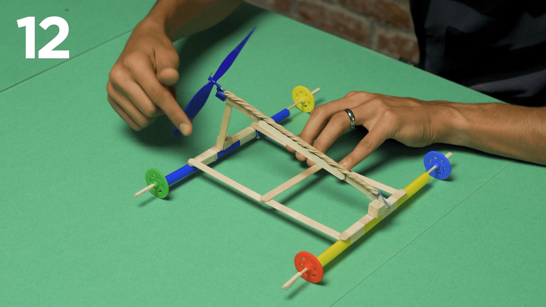 STEM at Home: Propeller-Powered Car step 12