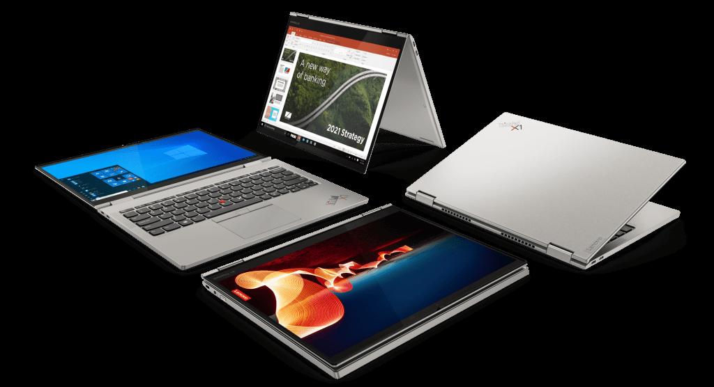 ThinkPad X1 Titanium in multiple modes