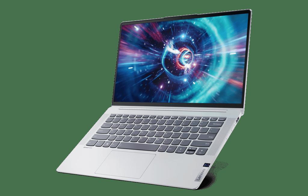 Lenovo IdeaPad 5G open on an angle