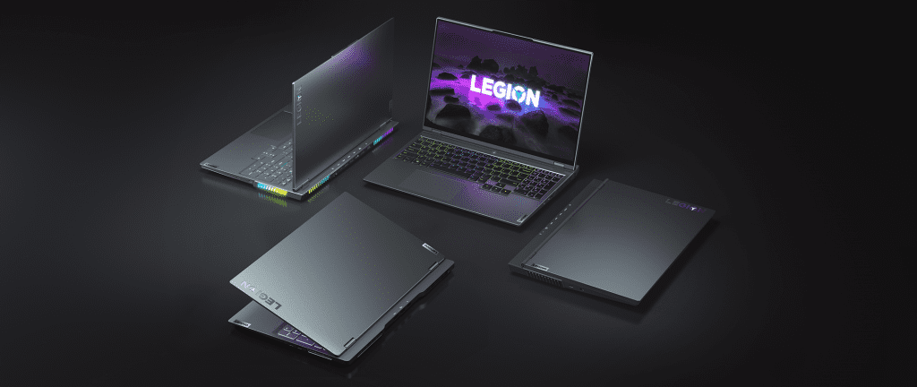 Four Lenovo Legion PCs