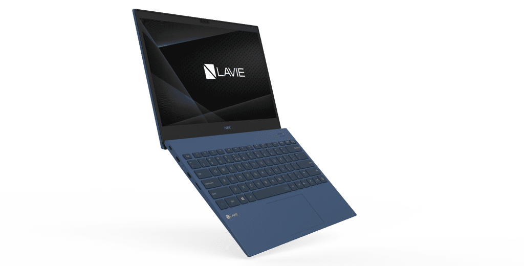 The new 13-inch NECPC LAVIE Pro Mobile laptop in Navy Blue