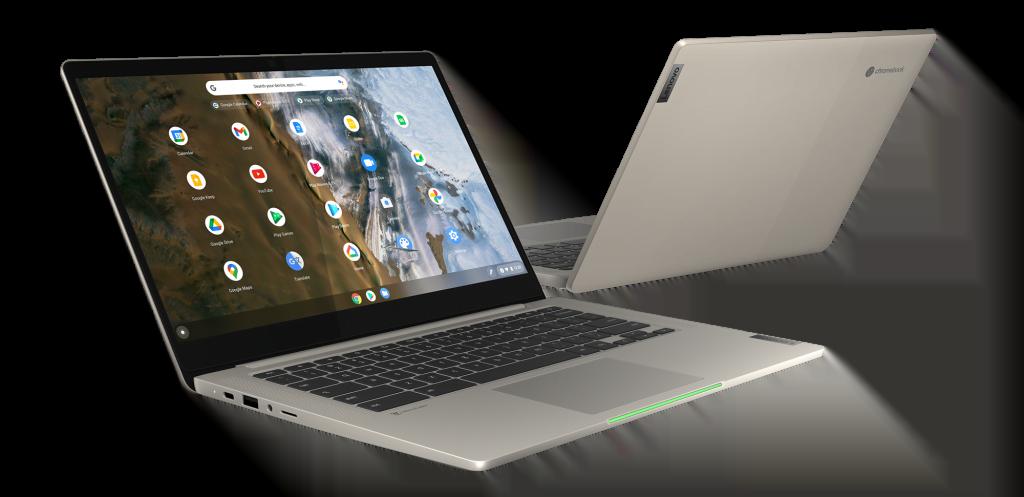 "The IdeaPad 5i Chromebook (14"", 6) featured in Sand hue"