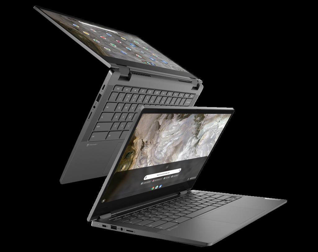 "The IdeaPad Flex 5i Chromebook (13"", 6) shown in Iron Grey"