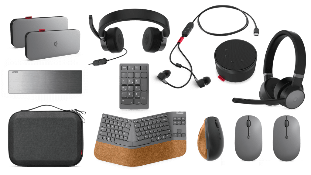 Full set of Lenovo Go accessories