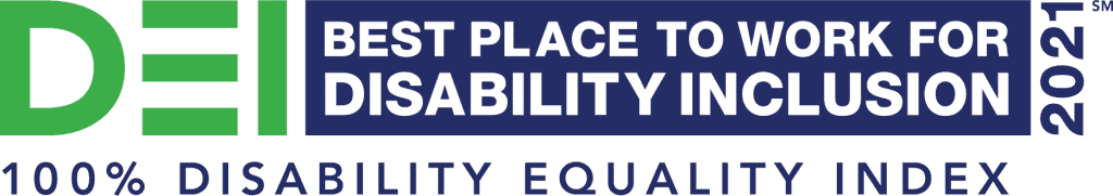 Best place to work for disability inclusion DEI logo image