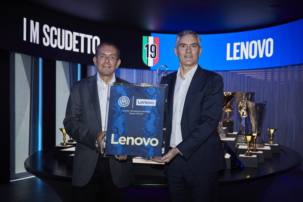 Lenovo's Luca Rossi and Inter's Alessandro Antonello