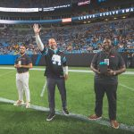 Vlad introduced on the field to announce the Grand Prize Winner.